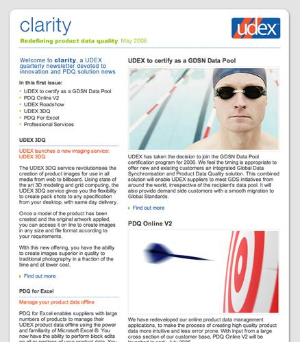 UDEX email newsletter